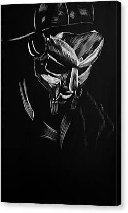 Mf Doom Canvas Print by Trevor Garner