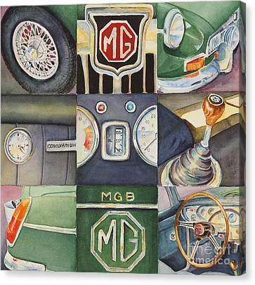 Mg Car Collage Canvas Print by Karen Fleschler