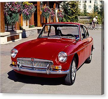 Mgb In Whistler Canvas Print by Christopher McKenzie
