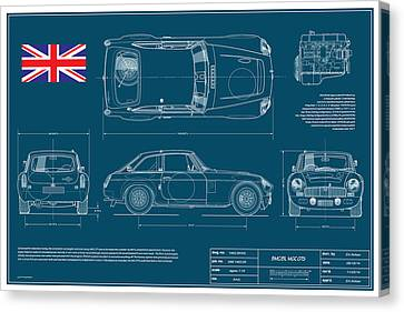 Mgc.gts Blueplanprint Canvas Print by Douglas Switzer