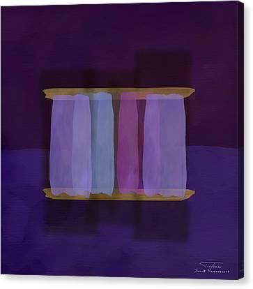 Mgl - Abstract Soft Blocks 02 I Canvas Print by Joost Hogervorst