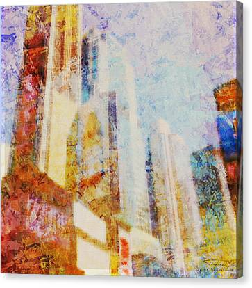 Mgl - City Collage - New York 01 Canvas Print by Joost Hogervorst
