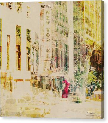 Mgl - City Collage - New York 08 Canvas Print