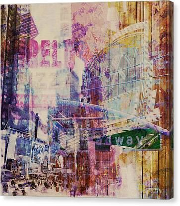 Mgl - City Collage - New York 09 Canvas Print by Joost Hogervorst