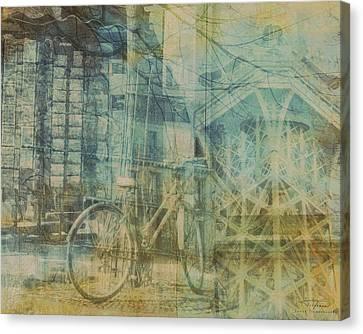 Eifel Canvas Print - Mgl - City Collage - Paris 01 by Joost Hogervorst