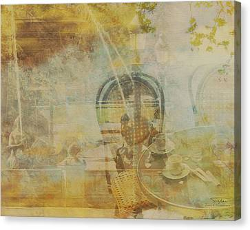 Mgl - City Collage - Paris 02 Canvas Print by Joost Hogervorst