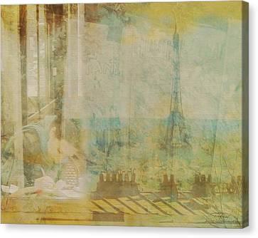 Eifel Canvas Print - Mgl - City Collage - Paris 04 by Joost Hogervorst