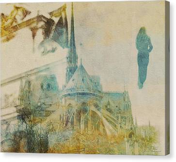 Mgl - City Collage - Paris 06 Canvas Print by Joost Hogervorst