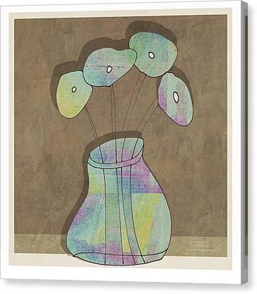 Purple Flowers Canvas Print - Mgl - Flowers 02 by Joost Hogervorst