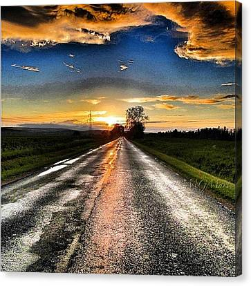 #mgmarts #driving #lonely #instamood Canvas Print