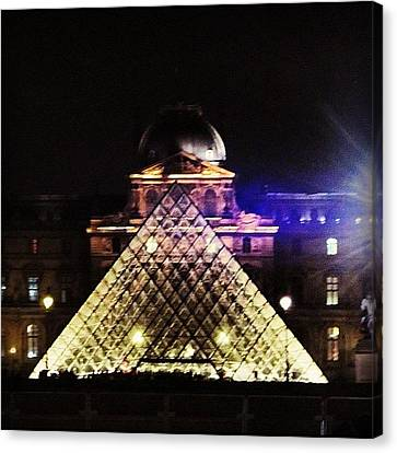 #mgmarts #louvre #paris #france #europe Canvas Print by Marianna Mills
