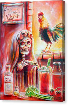 Bloody Mary Canvas Print - Mi Bloody Mary by Heather Calderon