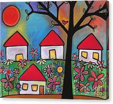 Mi Casa Es Su Casa Canvas Print by Carla Bank