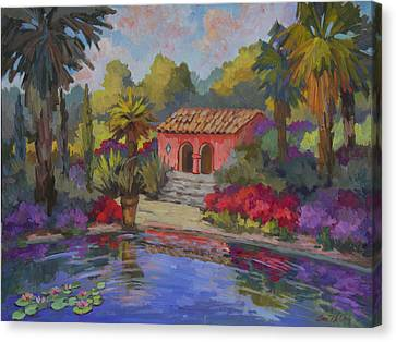 Spanish House Canvas Print - Mi Casa Es Su Casa by Diane McClary