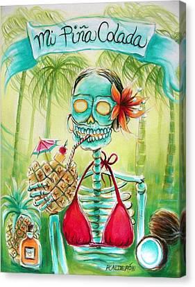 Mi Pina Colada Canvas Print by Heather Calderon