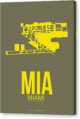 Mia Miami Airport Poster 1 Canvas Print by Naxart Studio