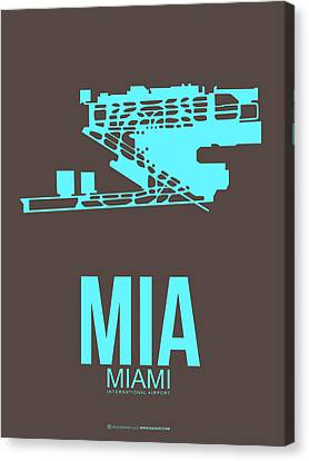 Mia Miami Airport Poster 2 Canvas Print by Naxart Studio