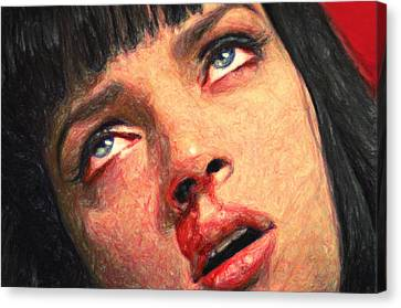 Mia Wallace Canvas Print by Taylan Apukovska