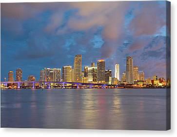 Miami - The Magic City Canvas Print by Claudia Domenig