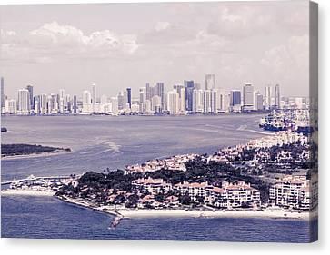 Miami Aerial Canvas Print by Maria  Lankina