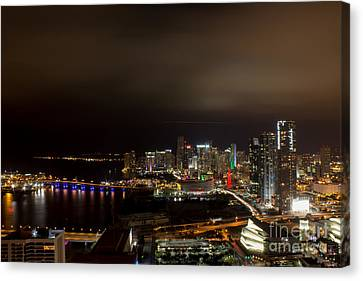 Miami After Dark Canvas Print by Rene Triay Photography