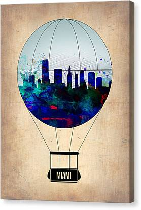 Miami Air Balloon Canvas Print by Naxart Studio