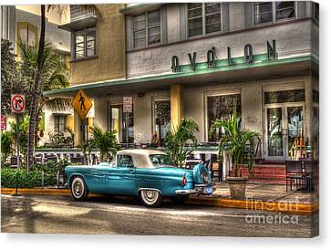 Miami Beach Art Deco 1 Canvas Print