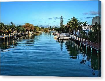 Miami Beach Waterway Canvas Print