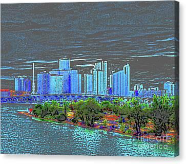 Miami Color Canvas Print by Molly McPherson