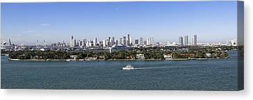 Canvas Print featuring the photograph Miami Daytime Panorama by Gary Dean Mercer Clark