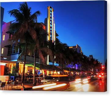 Miami Canvas Print - Miami - Deco District 017 by Lance Vaughn