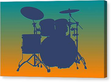 Miami Dolphins Drum Set Canvas Print by Joe Hamilton