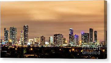 Miami Downtown Skyline Winter Sky Canvas Print