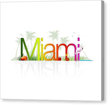 Miami- Florida Canvas Print by Aged Pixel
