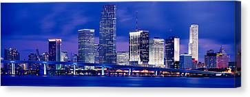 Miami, Florida, Usa Canvas Print by Panoramic Images