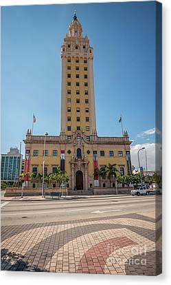 Miami Freedom Tower 3 - Miami - Florida Canvas Print by Ian Monk