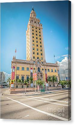 Miami Freedom Tower 4 - Miami - Florida Canvas Print by Ian Monk
