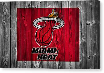 Miami Heat Barn Door Canvas Print by Dan Sproul