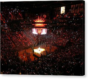 Canvas Print featuring the photograph Miami Heat  by J Anthony