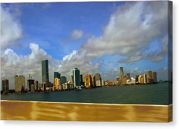 Canvas Print featuring the photograph Miami by J Anthony