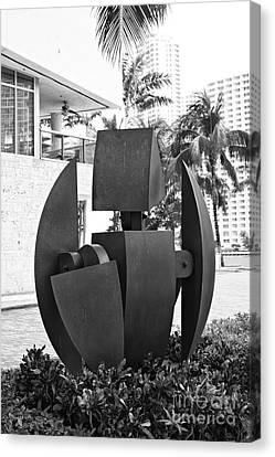 Miami Canvas Print - Miami Metal City Art by Eyzen M Kim