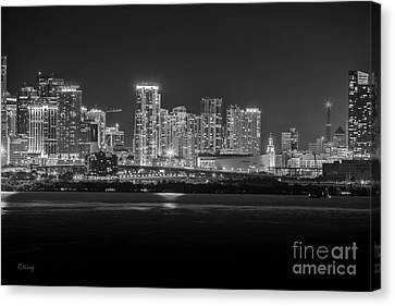 Miami On A Clear Summer Night Canvas Print
