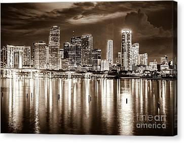 Miami Reflections Canvas Print