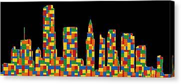 Miami Skyline 2 Canvas Print by Andrew Fare