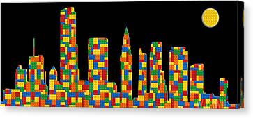 Miami Skyline 3 Canvas Print by Andrew Fare