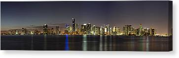 Miami Skyline Canvas Print by Andres Leon
