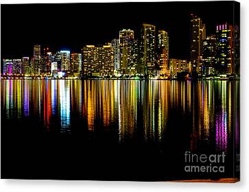 Miami Skyline II High Res Canvas Print by Rene Triay Photography