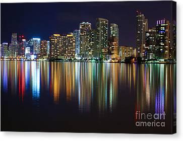 Miami Skyline IIi High Res Canvas Print