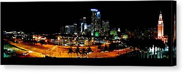 Canvas Print featuring the photograph Miami Skyline by J Anthony