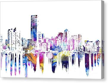 Miami Skyline Canvas Print by Doc Braham